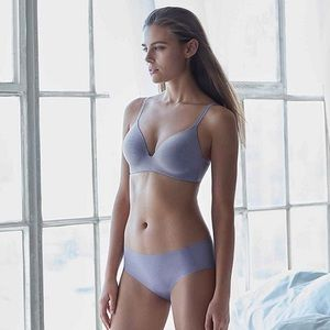discount collection clear and distinctive limited price Uniqlo wireless bra beige L 36C 36D 38B 38C NWT Boutique